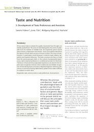 Taste and Nutrition