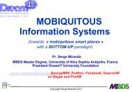 Mobiquitous Information Systems of the Future - iaria