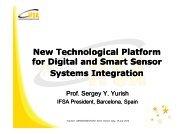 New Technological Platform for Digital and Smart Sensor ... - iaria