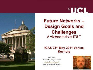 Future Networks Design Goals and Challenges - A Viewpoint ... - iaria