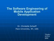 Software Engineering for Mobile Application Development - iaria