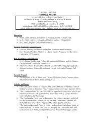 1 CURRICULUM VITAE MICHAEL J. KRAMER Lecturer, History and ...