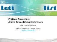 WISH: Protocol Awareness: A Step Towards Smarter Sensors - iaria