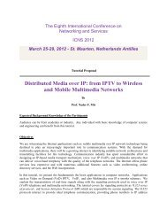 Wireless And Mobile Multimedia Networks - iaria