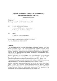 Modelling requirements with UML: a rigorous approach ... - iaria