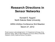 Research Directions in Sensor Networks - iaria