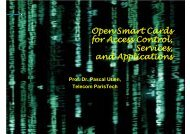 Open Smart Cards for Access Control, Services, and ... - iaria