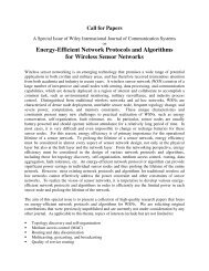 Energy-Efficient Network Protocols and Algorithms for ... - iaria