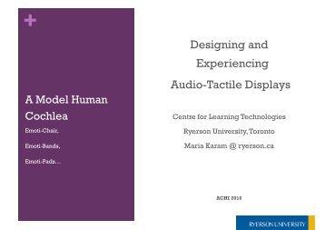 Crossmodal Audio-Tactile displays - iaria