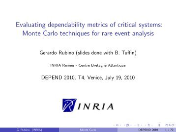 Evaluating dependability metrics of critical systems: Monte ... - iaria