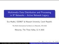 Multimedia Data Distribution and Processing in IP Networks ... - iaria