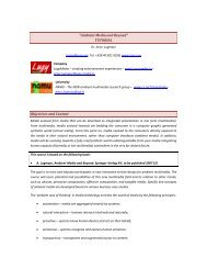 """""""Ambient Media and Beyond"""" TUTORIAL Objectives and ... - iaria"""
