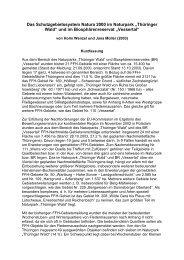 Das Schutzgebietssystem Natura 2000 im Naturpark Thüringer Wald