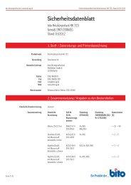 Sicherheitsdatenblatt HK 723 - Bito AG