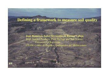Defining a framework to measure soil quality