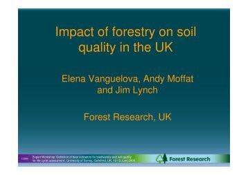 Vanguelova presentation - University of Surrey