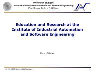 Education and Research at the Institute of Industrial Automation and ...
