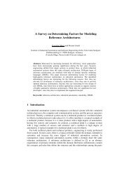 A Survey on Determining Factors for Modeling Reference ...