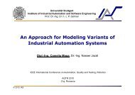 An Approach for Modeling Variants of Industrial Automation Systems