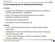 2 Prototyping bei der Software-Entwicklung - Universität Stuttgart