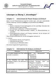 Übung 1: Grundlagen - Institut für Automatisierungs- und ...