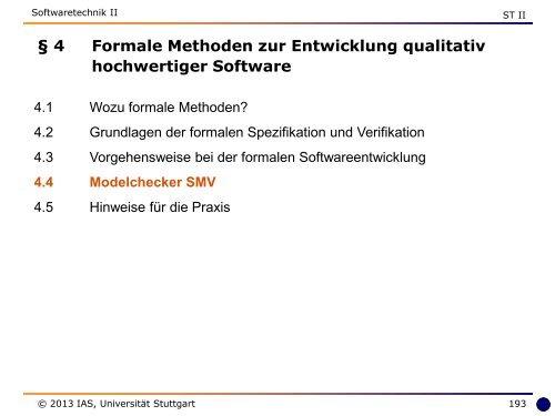 4 Formale Methoden zur Entwicklung qualitativ hochwertiger Software