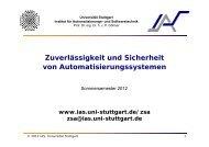 Skript vom Sommersemester 2012 - Institut für Automatisierungs ...