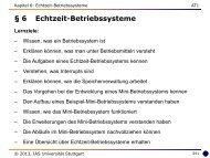 6 Echtzeit-Betriebssysteme - Universität Stuttgart