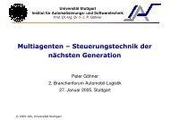 Einsatzmöglichkeiten in der Logistik - Institut für Automatisierungs ...