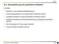 4 Prozessautomatisierung mit qualitativen Modellen - Universität ...