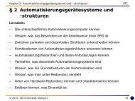 2 Automatisierungsgerätesysteme und -strukturen - Universität ...