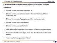3 Statische Konzepte in der objektorientierten Analyse - Universität ...