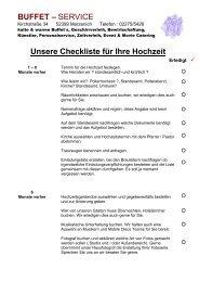 Unsere Checkliste für Ihre Hochzeit - buffet-heinrichs.de