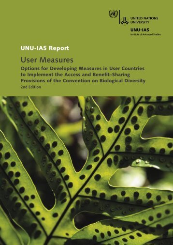 User Measures - UNU-IAS - United Nations University