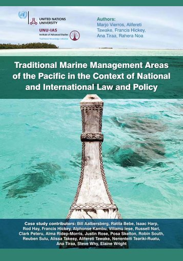 Traditional Marine Management Areas of the Pacific in the Context ...