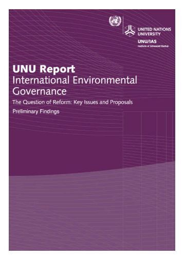 International Environmental Governance - UNU-IAS - United Nations ...
