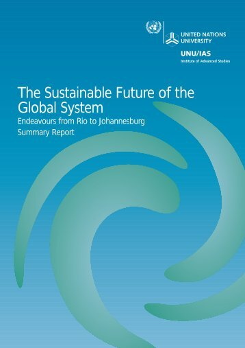 The Sustainable Future of the Global System - UNU-IAS - United ...