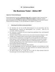 Die Business-Tester - Aktion #07 - HP - Hewlett Packard
