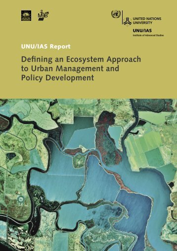 Defining an Ecosystem Approach to Urban Management and Policy ...
