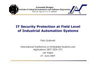 IT Security Protection at Field Level of Industrial Automation Systems