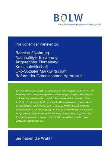 BÖLW_Wahlprüfsteine 2013.pdf - Bund Ökologische ...