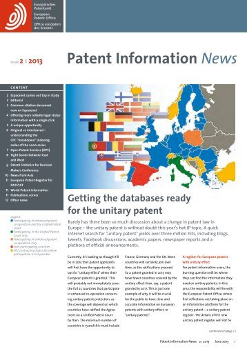 Patent Information News 02 2013 - WBC-INCO Net