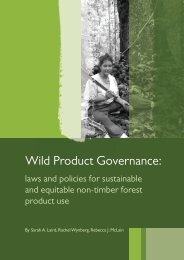 Wild Product Governance: Laws and Policies - Traditional ...