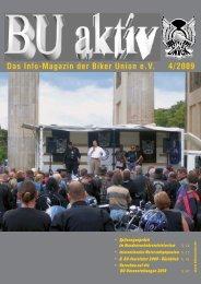 Das Info-Magazin der Biker Union eV 4/2009