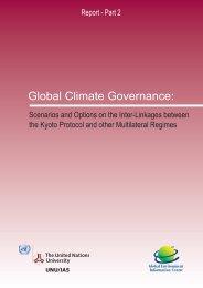 Global Climate Governance 2 - UNU-IAS - United Nations University