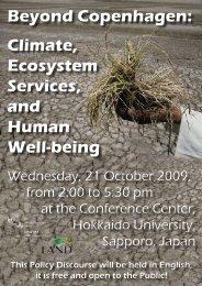 Beyond Copenhagen: Climate, Ecosystem Services, and ... - UNU-IAS