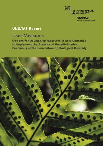 User Measures - UNU-IAS - United Nations University