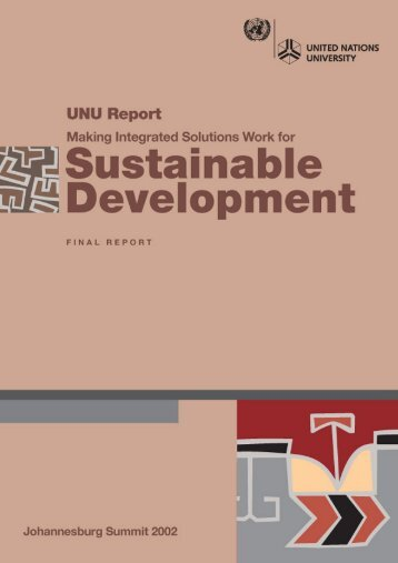 Making Integrated Solutions work for Sustainable Development