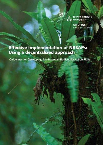 Effective Implementation of NBSAPs - UNU-IAS - United Nations ...