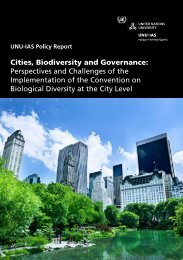 Cities, Biodiversity and Governance - UNU-IAS - United Nations ...
